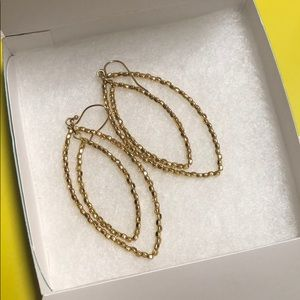 Stella and Dot gold beaded earrings